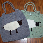 Intarsia Sheep Bag