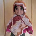 Peruvian Poncho with Earflap Hat