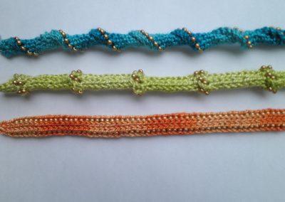 Beaded I-Cord Bracelets